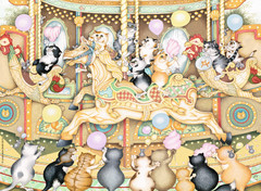 14696__Crazy_Cats_on_Carousel__16946