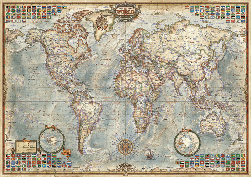 Map Of Uk 1500.Educa 16005 Political Map Of The World 1500 Piece