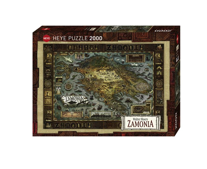 Heye 29622 Map of Zamonia Walter Moers 2000 Piece Barneys
