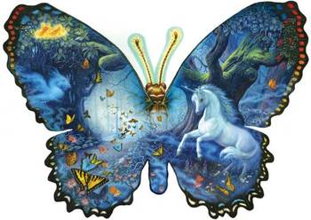 Fantasy Butterfly 1000 piece shaped
