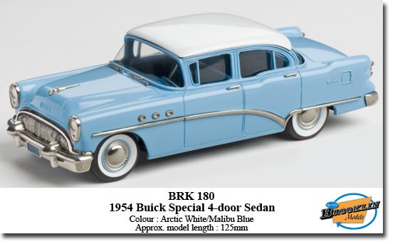 Brooklin 1954 buick tm special four door sedan for 1954 buick 4 door