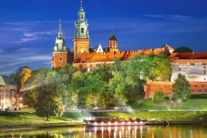 C-103027__Wawel_Castle_By_Night_Poland__09026