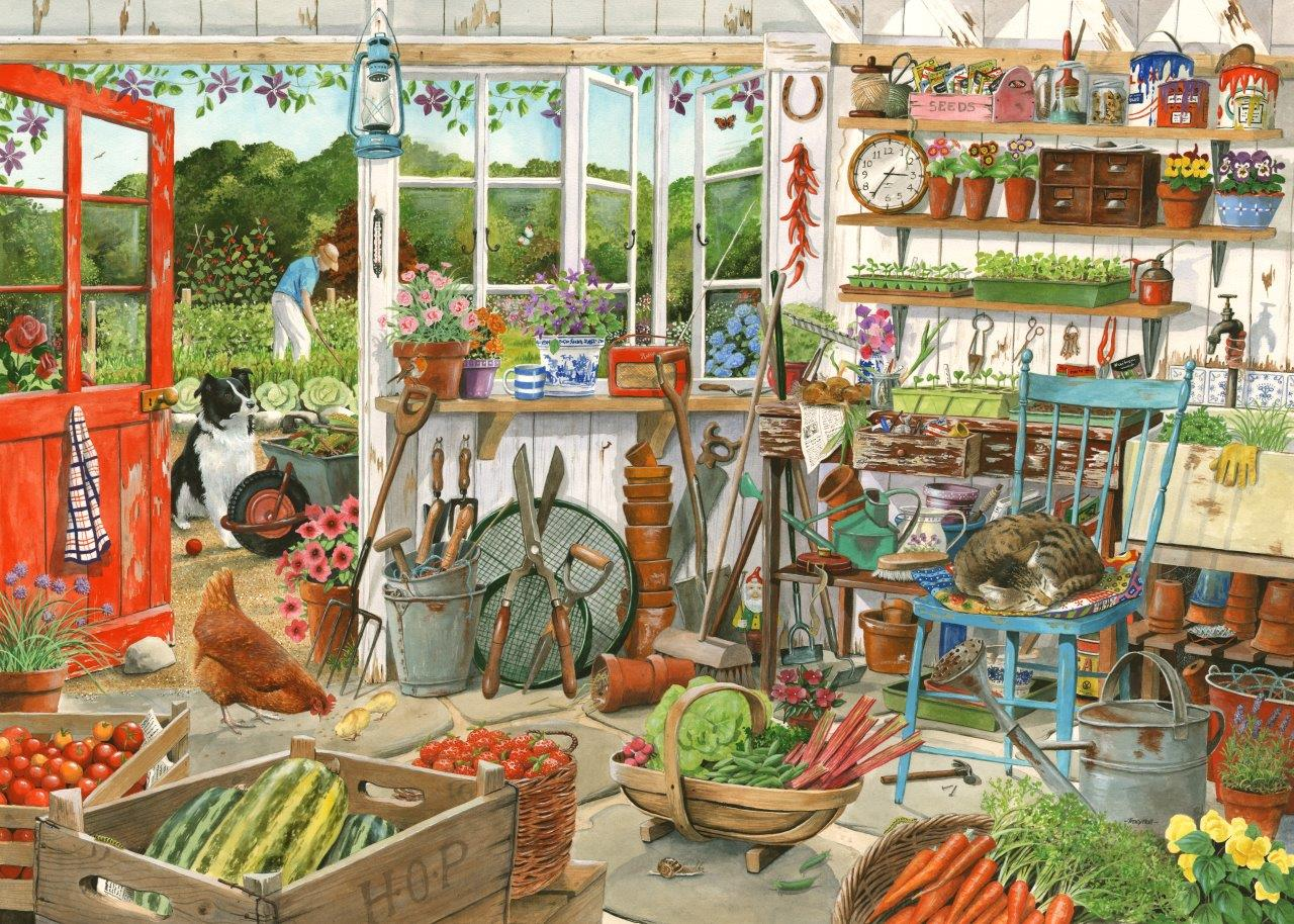House Of Puzzles Potting Shed Tracy Hall 1000 Piece