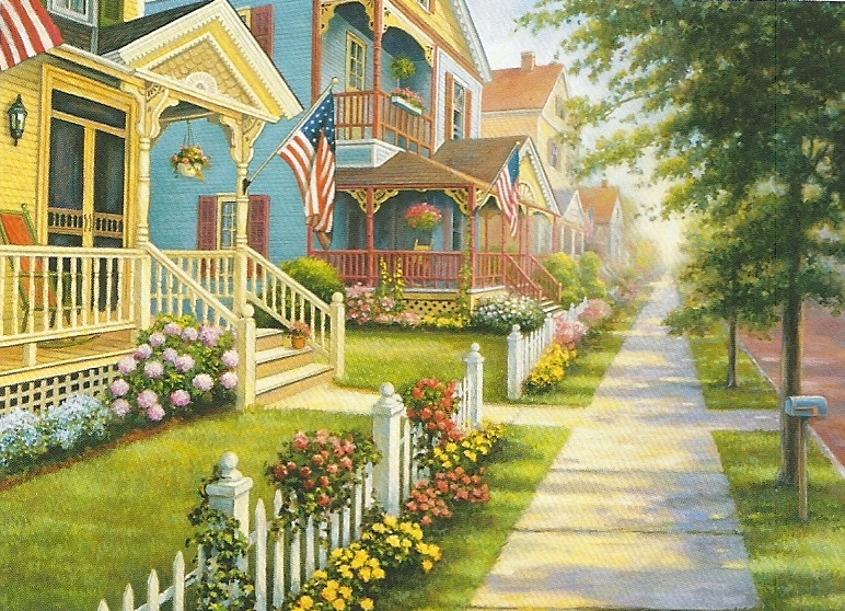 Great american 8682 country homes 1000piece for Great american homes
