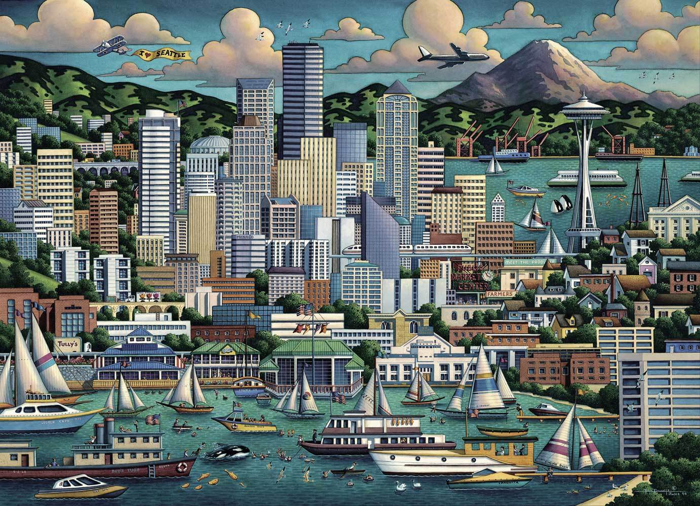 Dowdle Folk Art Seattle 1000 Piece